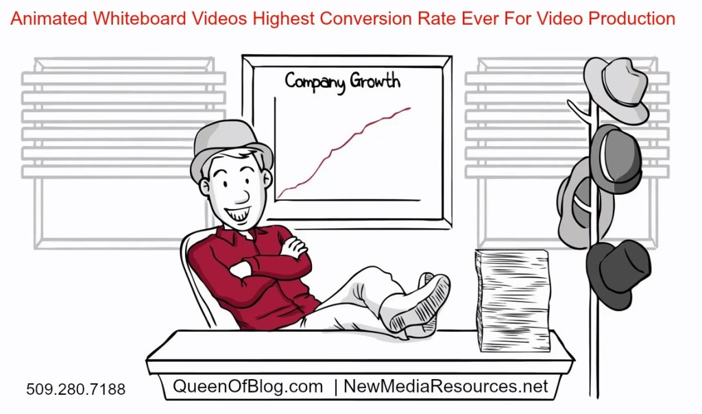 growth cartoon animated video queen of blog